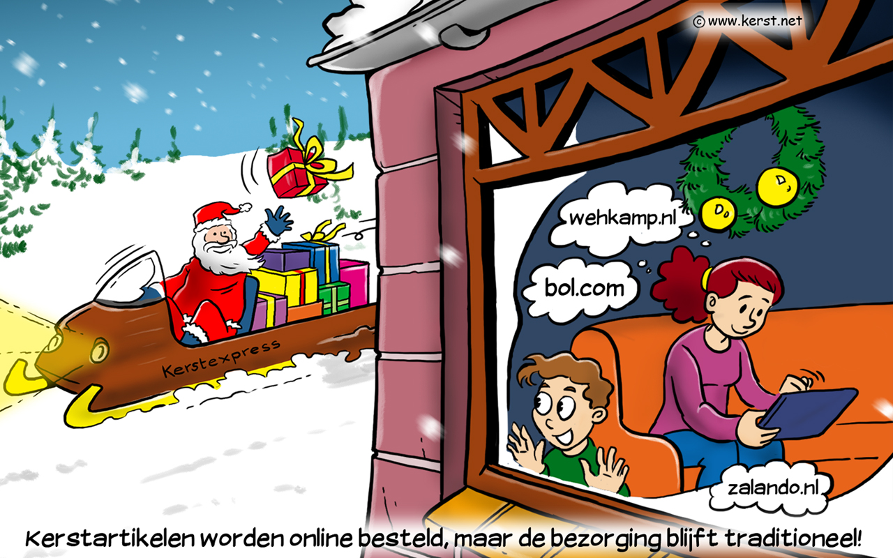 grappig cartoon kerst