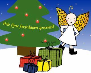 download grote Kerstmis Engeltjes kado desktop achtergrond