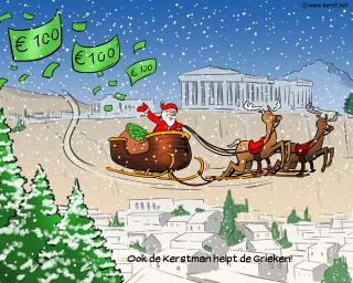 download kerstman helpt de Grieken desktop achtergrond (724 KB) - 1024 x 768 pixels