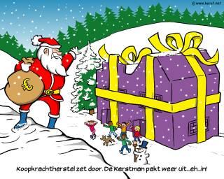 download kerstman pakt in uit desktop achtergrond (520 KB) - 1024 x 768 pixels