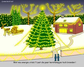 download wallpaper achtergrond Steeds meer huizen en tuinen worden verlicht met kerstlichtjes