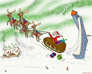 download Kerstmis schans desktop achtergrond (153 KB) - 1024 x 768 pixels